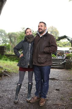 'The perfect Barbour couple.' - Literally my style - Me and the fella for Barbour Boots, Barbour Jacket Women, Barbour Quilted Jacket, Countryside Fashion, Country Fashion, Country Style, Hunter Boots Outfit, Smart Girls, Fall Winter Outfits