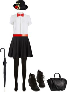 """Mary Poppins Halloween Costume"" by goldi-ammer ❤ liked on Polyvore"