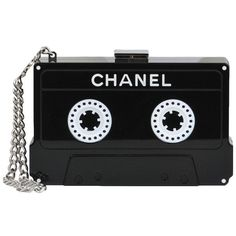 Pre-owned Chanel Iconic Cassette Clutch (19,275 CAD) ❤ liked on Polyvore featuring bags, handbags, clutches, purses, black, chanel, handbags and purses, handbags & purses, black chain purse and pre owned handbags