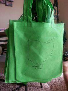Welcome bags for hotel guests