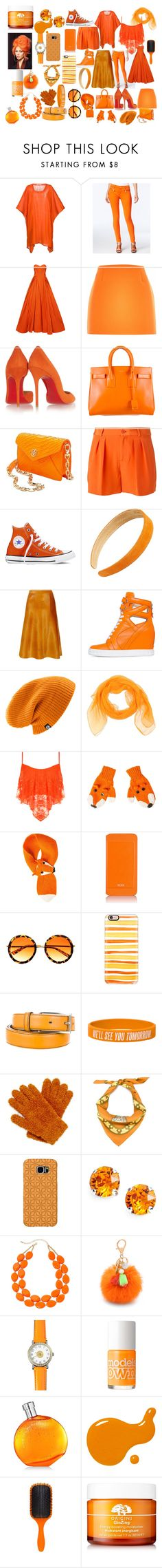 """""""Orange"""" by stitchlover123 ❤ liked on Polyvore featuring moda, Denis Colomb, Michael Kors, Zac Posen, River Island, Christian Louboutin, Yves Saint Laurent, Tory Burch, Polo Ralph Lauren e Converse"""