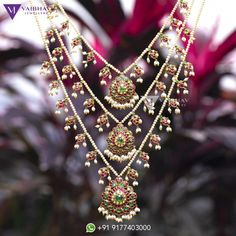 Pearl necklace designs by Vaibhav photo - Pearl necklace designs by Vaibhav photo - Pearl Necklace Designs, Jewelry Design Earrings, Gold Jewellery Design, Jewelry Sets, Simple Necklace Designs, Royal Jewelry, Antique Jewellery, Bead Jewelry, Photo Jewelry