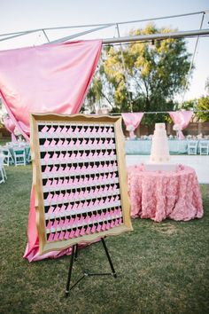 ombre pink seating cards | Photography by ginameola.com |  Event Planning by ashleygain.com |  Floral Design by azpetalpusher.com |    Read more - http://www.stylemepretty.com/2013/07/09/arizona-wedding-from-gina-meola-ashley-gain-weddings-events/