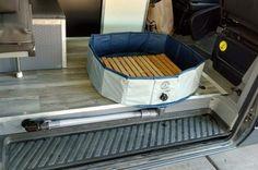 Building an Indoor Portable Shower for Our Sprinter Campervan - Wohnwagen Sprinter Van Conversion, Camper Van Conversion Diy, Shower Pan, Diy Shower, Camp Shower, Motorhome, Camper Van Shower, Camper Bathroom, Van Living