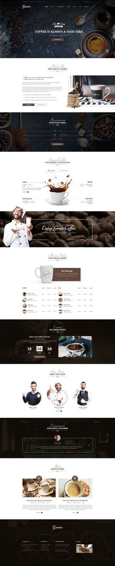 Gamba is a powerful, modern and creative PSD template, designed for food, bakery, cafe, pub & restaurant websites. The design is very elegant and modern, and also very easy to customize. Fully laye...  Chose WebsitesYES.com for your design needs.