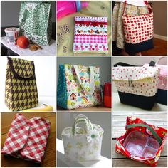 10 DIY fabric lunch/snack bags