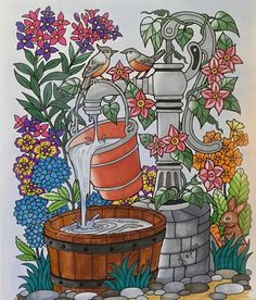 ColorIt Blissful Scenes Colorist: Gayle Larson #adultcoloring #coloringforadults #adultcoloringpages #blissfulscenes