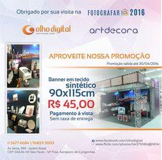 https://flic.kr/p/GqbRK8 | Super promoção de Abril, banners em tecido R$ 45,00 cd. entre em contato conosco : olhodigital@olhodigital.art.br - 11 -56779292 - www.olhodigital.art.br