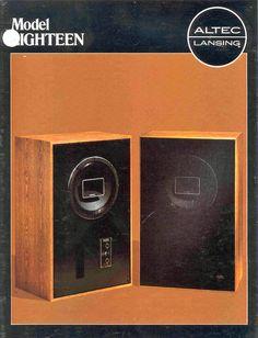 Altec-Lansing Model 18 was a 604 Duplex Driver in a bass reflex cabinet Hifi Speakers, Hifi Stereo, Passive Radiator, Altec Lansing, Electronics Companies, Bass, Audio Music, Dynamic Range, Speaker Design