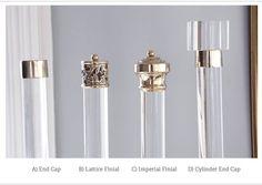 35 48 Custom Lucite Curtain Rod w/ Brass Brackets by LuxHoldups