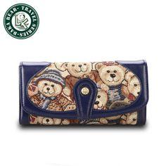 DAKA BEAR Big Capacity Multi Purpose Fashion Bag Clutch Two Zipper Wallet
