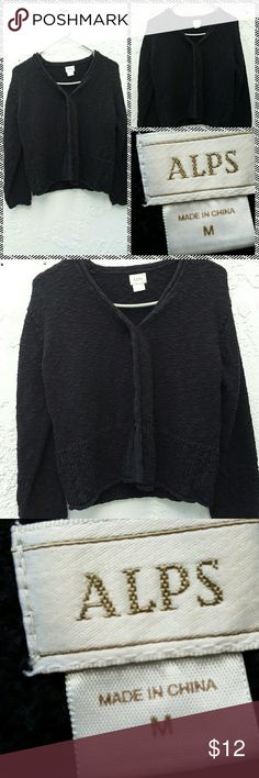 Alps Sweater This is so sweet and comfy,  Black button down sweater by Alps.  Size Medium Alps  Sweaters Cardigans
