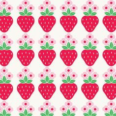 Graphic strawberries - Sarah Papworth