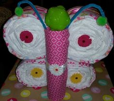 Diaper Cake - Butterfly – With You in Mind Gift Creations