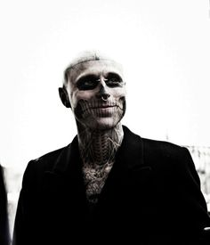 Rick Genest actually smiling