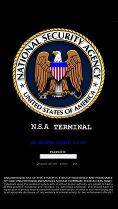 NSA Login Terminal  - iPhone 5 wallpaper