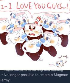 A cause de la mise à jour sur Steam, il n'est plus possible de créer une armée de Mugman.