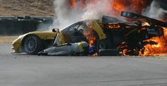 During an American Le Mans Series practice session at the Infineon Raceway in 2004, Dale Earnhardt Jr. lost control of his car and backed into the retaining wall. In that crash .  Dale Jr had severe burns to his neck. You can still see the scars today. http://www.pinterest.com/jr88rules/dale-earnhardt-jr/