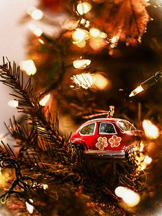 VW Slug Bug Ornament Christmas Tree