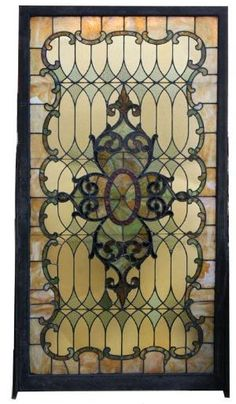 ❤ Our window - Antique Stained Glass Landing Window - Wooden Nickel Antiques, Cincinnati Ohio Stained Glass Designs, Stained Glass Panels, Stained Glass Projects, Stained Glass Patterns, Leaded Glass, Beveled Glass, Stained Glass Art, Art Nouveau, Mosaic Art