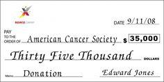 Custom Charitable Donation Big Check : Front