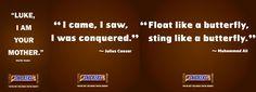 Float Like A Butterfly, Julius Caesar, Muhammad Ali, I Saw, Darth Vader