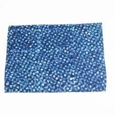 SALE:  Cotton Cloth Placemat- Blue Dot- Batik Block Print- Set of 4 - RUNNER- Rustic Loom #rusticloom