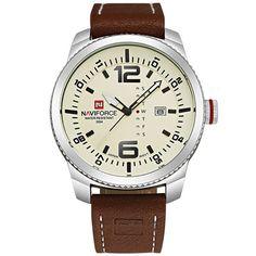 Ανδρικό ρολόι NAVIFORCE με λευκό καντράν