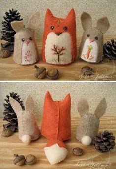 adorable felt forest critters