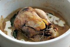 This is a simple yet brilliant recipe for pot roast pheasant with an apple, cider, sage and cream sauce from José Souto. It is winter on a plate, or in this case, in a pot.
