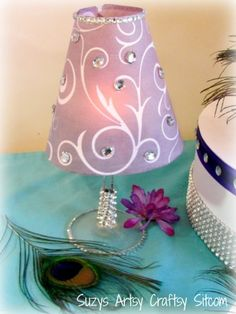 DIY Wedding – Tea Light Table Lamp with Bling