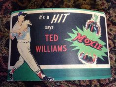 Moxie Store Display Sign w Baseball Legend Ted Williams 100 Authentic RARE | eBay