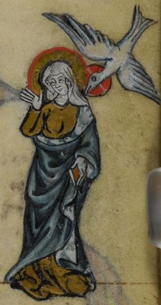 Detail from medieval manuscript, British Library Stowe MS 17 'The Maastricht Hours', f221r