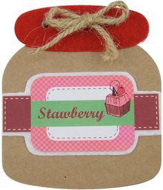 Block de notasen forma de tarro de mermelada de fresa para regalar como detalle de boda, comunión o eventos para tus invitadas