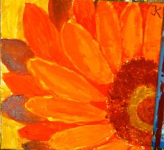 Paragraph Idea: My Favorite Part of Summer... and possible art project - close up painting of flowers