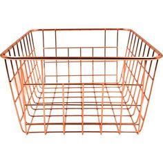 Mainstays Ms Wire Basket (rose Gold) - Walmart.com
