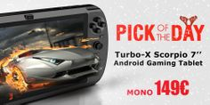 "Turbo-X Scorpio 7"" Android gaming tablet #Plaisio #DailyOffer"