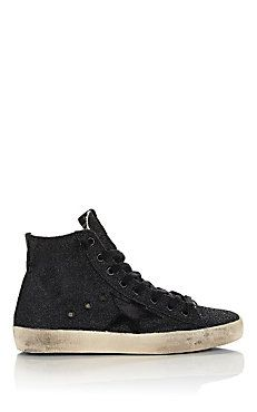 Distressed Glitter Francy Sneakers Barneys New York 13e1c9d27a40