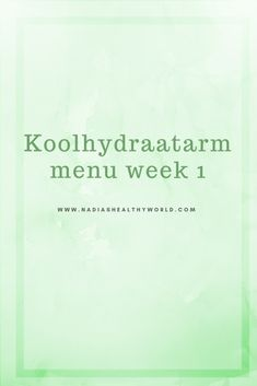 koolhydraatarm weekmenu Low Carb Menus, Low Carb Recipes, Healthy Recipes, Healthy Diners, Weight Watchers Menu, Diner Recipes, Fodmap, Diet Tips, Healthy Cooking