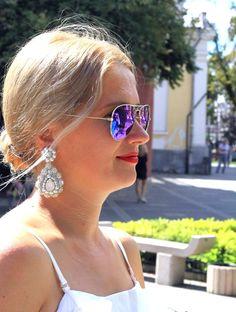 """Сногсшибательная и яркая Елена в серьгах """"Жемчужные капли""""💎💐  Девушки, спасибо за прекрасные образы и фото! Люблю😍 #ruvinskaya #jewelrydesigner #ruvinskayaaccessories #ruvinskayawedding"""