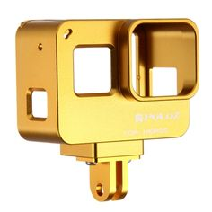 [$17.02] PULUZ Housing Shell CNC Aluminum Alloy Protective Cage with Insurance Frame for GoPro HERO5(Gold)