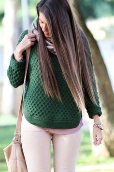 Zara Pink Skinny Jeans  #Fashion Winter Nuny Diary #Preppy Casual Style #Sfera #Print Scarf #Sheinside #Army Green Pullover #Diamond Patterned Sweater #Zara #Pink Skinny Jeans #H&m #Purse