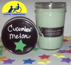 Cucumber Melon Organic Soy Candle!  Eco friendly, clean and slow burning. Get 43 hours of burn time out of our 8 oz candles!   For more information about Shelby and her candles visit us at www.shelbysjourneycandles.com or like us on Facebook http://www.facebook.com/pages/Shelbys-Journey-Candles/316453241762830