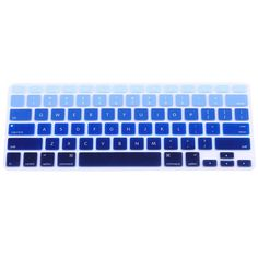 Korean Keyboard Cover for MacBook 13pro A1708 Retina 12 inch Laptop Keyboard Protective Film-Gradient Blue
