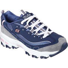 194e146f5164a Skechers Women s D Lites New Journey Sneaker Navy Gray (US Women s 9 (Wms  9) M (Medium) - Medium)