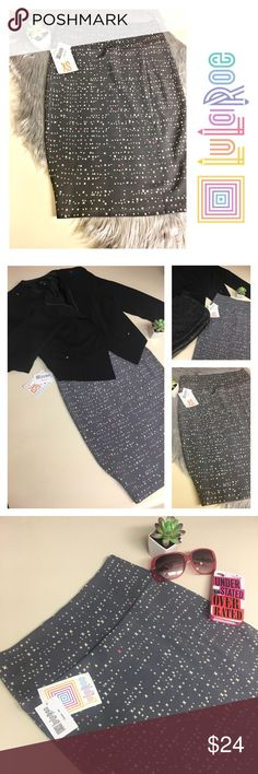 LulaRoe Cassie Pencil Midi Skirt NWTs LulaRoe Cassie Pencil Midi Skirt-New With Tags, removed from bag for pictures only- Material:Polyester and Spandex- 🦄GORGEOUS light purple/grey background with Cream and Red Stars(or Xs depends on how you want to look at it)-has a lot of stretch- perfect for work with your favorite blazer, or put on a sexy top and heels for girls night out!🔹please note different lighting may cause color variations🔹offers welcome! LuLaRoe Skirts Pencil
