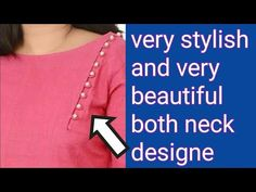 how to make designer both neck cutting and stichting Punjabi Suit Neck Designs, Salwar Neck Designs, Kurta Neck Design, Kurta Designs, Blouse Designs, Chudidhar Neck Designs, Neck Designs For Suits, Neckline Designs, Dress Neck Designs