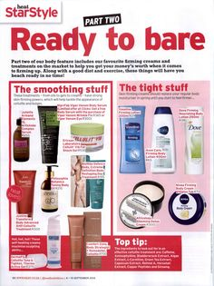 Heat South Africa - Check out our Toning Body Oil in the September Issue!