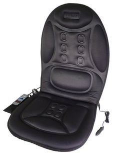 Wagan IN9988 Black 12V Ergo Comfort Rest Massage Magnetic Cushion Car Seat