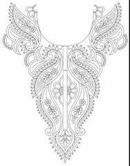 hand embroidery designs for neck - Google zoeken